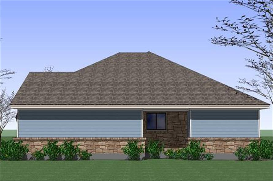Home Plan Right Elevation of this 4-Bedroom,1553 Sq Ft Plan -117-1040