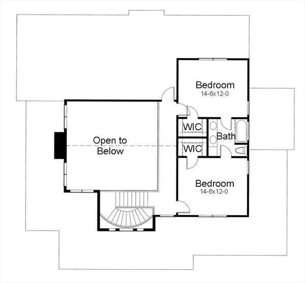 117-1042: Floor Plan Upper Level