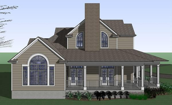 117-1042: Home Plan Left Elevation