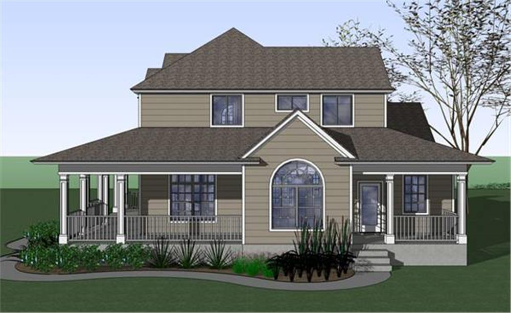 117-1042: Home Plan Right Elevation