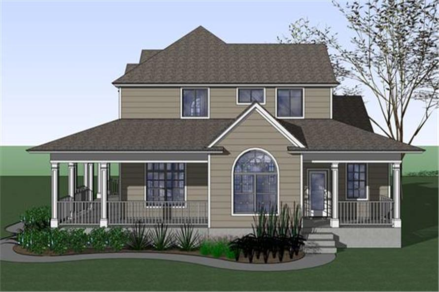 Home Plan Right Elevation of this 3-Bedroom,2543 Sq Ft Plan -117-1042