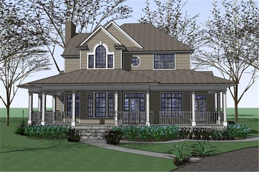 Classic Texas Style Farmhouse With 2543 Sq Ft Floor Plan