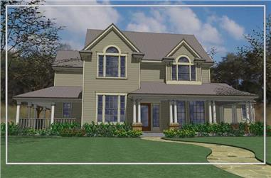 3-Bedroom, 2420 Sq Ft Farmhouse House Plan - 117-1046 - Front Exterior