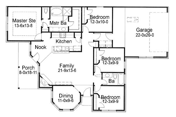 117-1047: Floor Plan Main Level