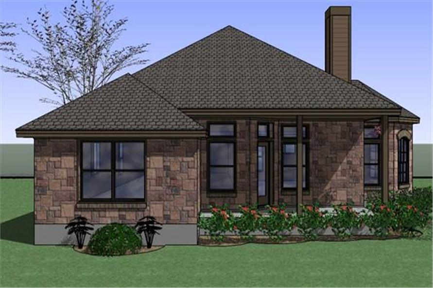 Home Plan Left Elevation of this 4-Bedroom,1512 Sq Ft Plan -117-1047
