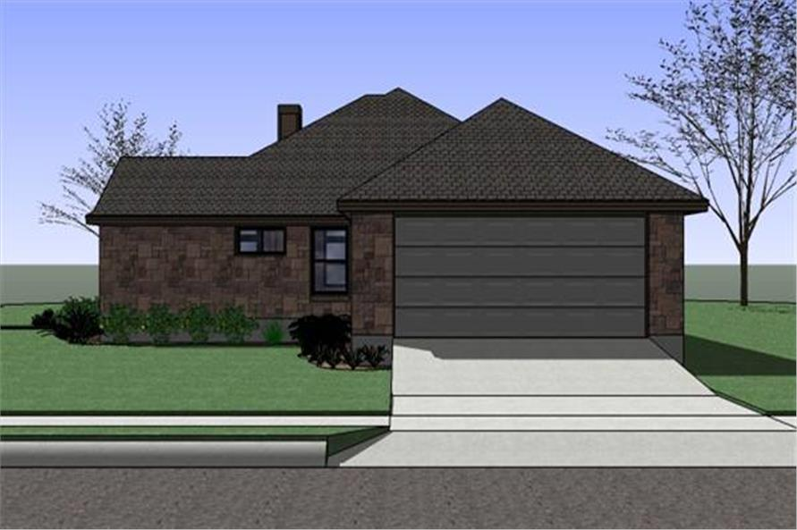 Home Plan Right Elevation of this 4-Bedroom,1512 Sq Ft Plan -117-1047