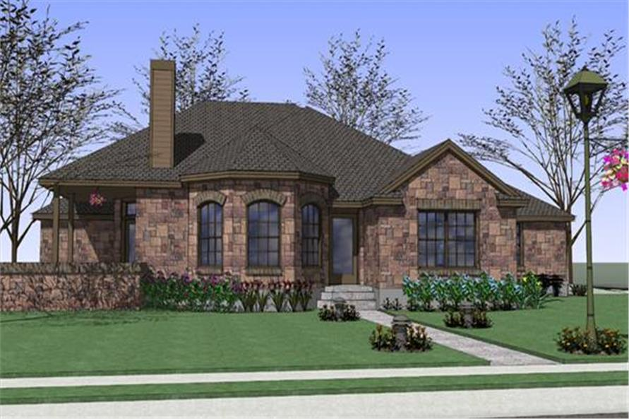 4-Bedroom, 1512 Sq Ft Ranch House Plan - 117-1047 - Front Exterior