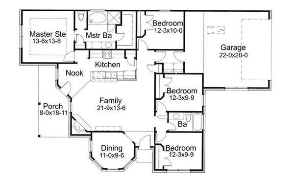 Main Floor Plan DW1512