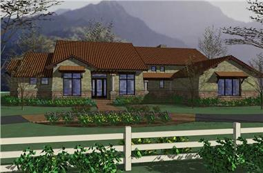 3-Bedroom, 3024 Sq Ft Home Plan - 117-1049 - Main Exterior