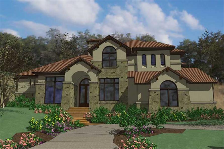 5-Bedroom, 5407 Sq Ft Luxury Home Plan - 117-1052 - Main Exterior