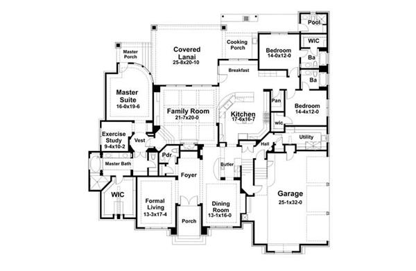 Main Floor Plan DW5407