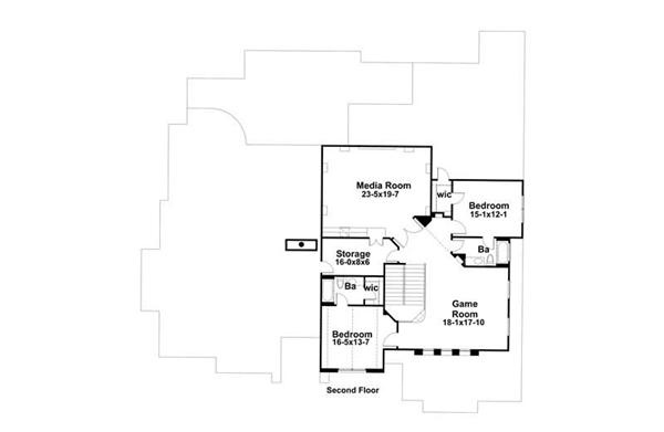 Second Floor Plan DW5407