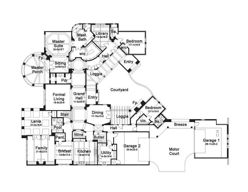Main Floor Plan DW8205