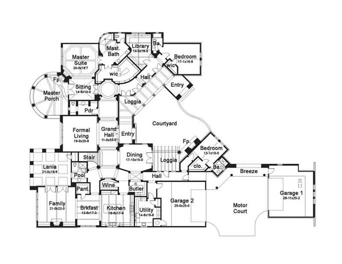 Luxury House Plans Home Design - Luxury homes floor plans