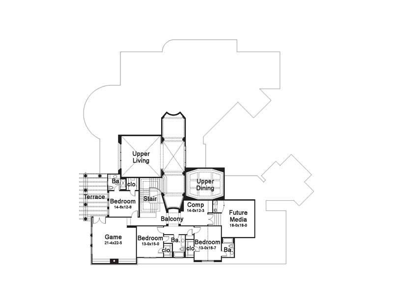 Second Floor Plan DW8205