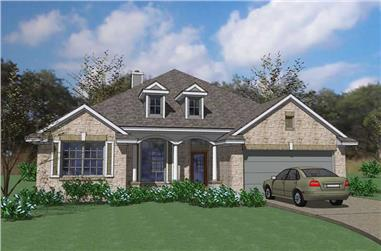 3-Bedroom, 2519 Sq Ft House Plan - 117-1054 - Front Exterior
