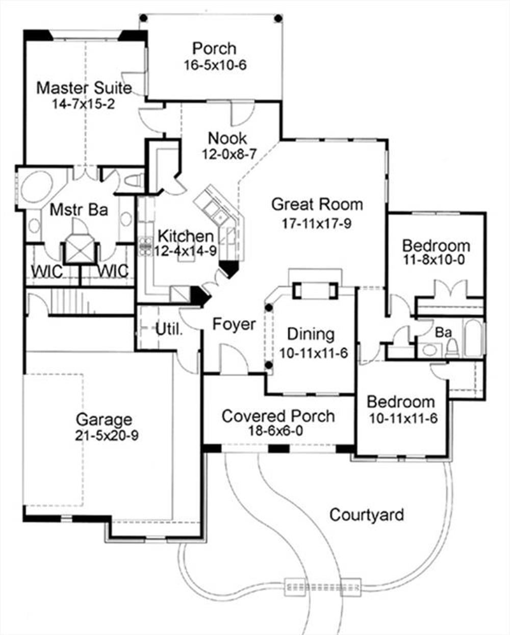 117-1055: Floor Plan Main Level