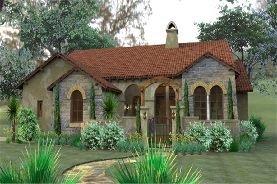 Home Plans: Mediterranean Style Home With 3 Bedrms, 1749 Sq Ft