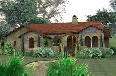 3-Bedroom, 1780 Sq Ft Tuscan Home Plan - 117-1055 - Main Exterior