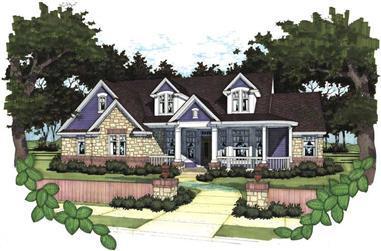 4-Bedroom, 1991 Sq Ft Home Plan - 117-1056 - Main Exterior