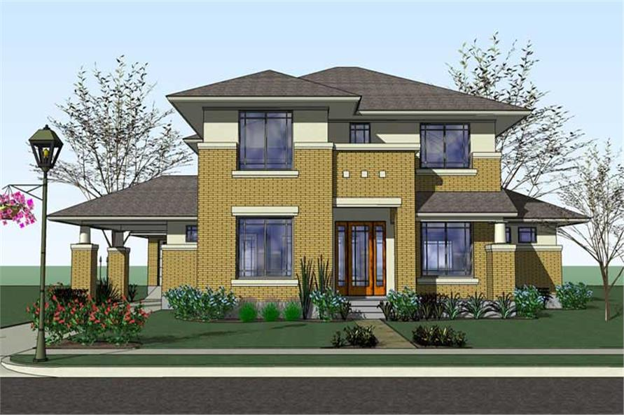 4-Bedroom, 3497 Sq Ft Traditional Home Plan - 117-1057 - Main Exterior