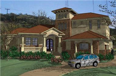 5-Bedroom, 4436 Sq Ft Home Plan - 117-1058 - Main Exterior