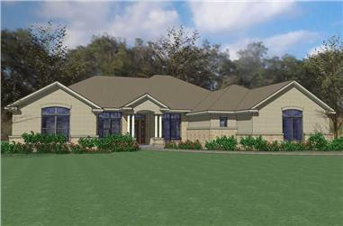 4-Bedroom, 2995 Sq Ft Home Plan - 117-1059 - Main Exterior