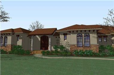 3-Bedroom, 3355 Sq Ft Home Plan - 117-1061 - Main Exterior