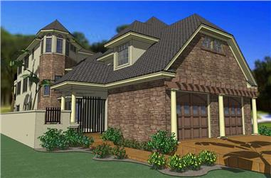 6-Bedroom, 3967 Sq Ft House Plan - 117-1062 - Front Exterior