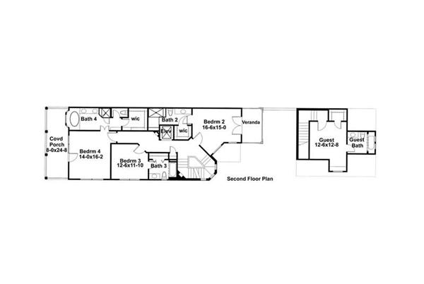 Second Floor Plan DW3967