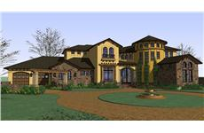 Luxury House Plans color elevation.