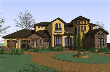 5-Bedroom, 5202 Sq Ft Luxury Home Plan - 117-1063 - Main Exterior
