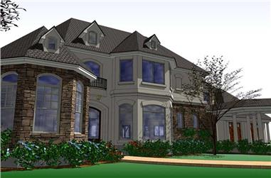 5-Bedroom, 5351 Sq Ft Home Plan - 117-1064 - Main Exterior