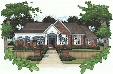 4-Bedroom, 2521 Sq Ft House Plan - 117-1065 - Front Exterior