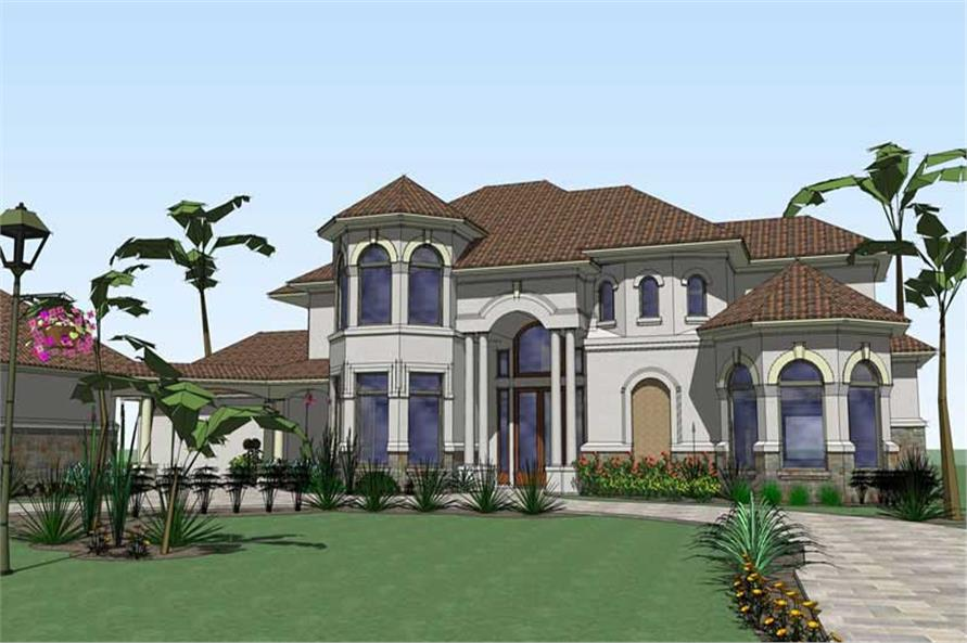 6-Bedroom, 6024 Sq Ft Home Plan - 117-1066 - Main Exterior