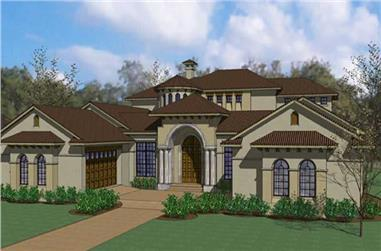 5-Bedroom, 6804 Sq Ft Home Plan - 117-1067 - Main Exterior
