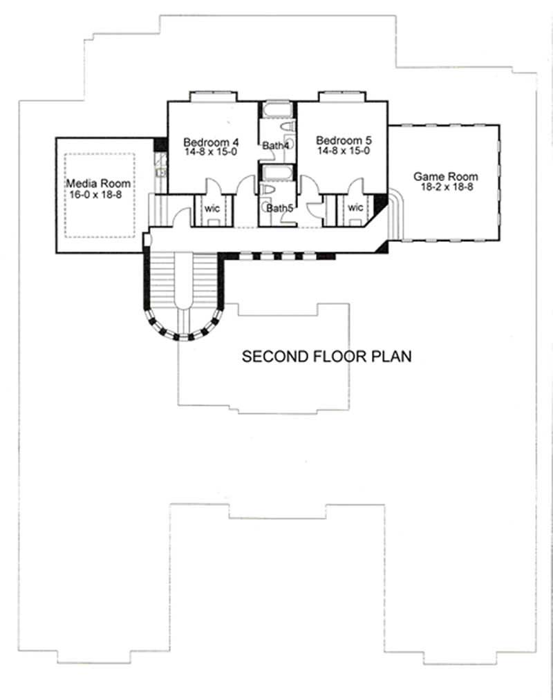 Second Floor Plan DW6804