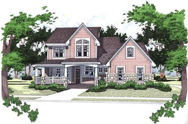 4-Bedroom, 1999 Sq Ft House Plan - 117-1070 - Front Exterior