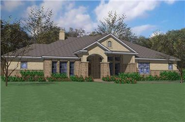 3-Bedroom, 2874 Sq Ft House Plan - 117-1071 - Front Exterior