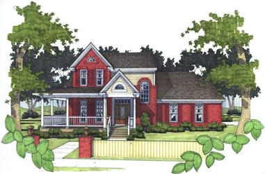 3-Bedroom, 1994 Sq Ft House Plan - 117-1072 - Front Exterior