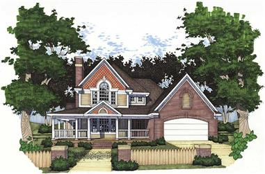 3-Bedroom, 2385 Sq Ft House Plan - 117-1073 - Front Exterior
