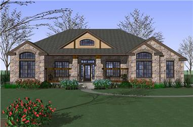 3-Bedroom, 2471 Sq Ft Home Plan - 117-1074 - Main Exterior