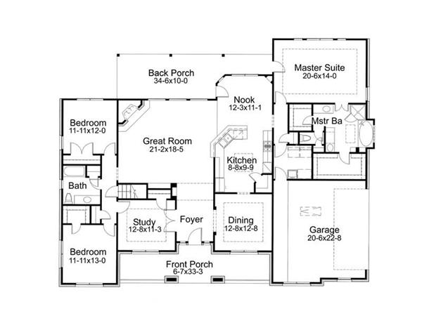 Main Floor Plan DW2471