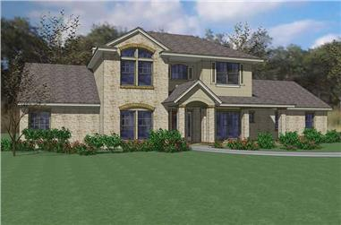 3-Bedroom, 2811 Sq Ft House Plan - 117-1077 - Front Exterior