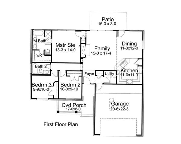 Main Floor Plan DW1356