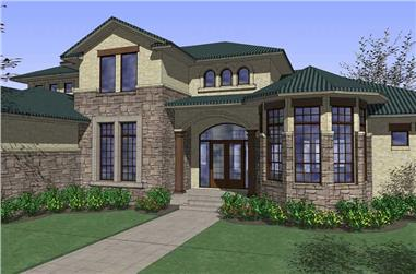 4-Bedroom, 4629 Sq Ft Home Plan - 117-1080 - Main Exterior