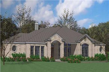 3-Bedroom, 2874 Sq Ft Ranch Home Plan - 117-1081 - Main Exterior