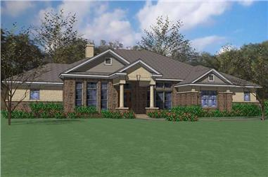 3-Bedroom, 2874 Sq Ft Traditional House Plan - 117-1082 - Front Exterior