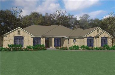 4-Bedroom, 2995 Sq Ft Ranch Home Plan - 117-1083 - Main Exterior