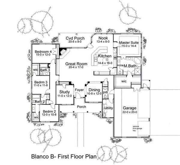 Main Floor Plan DW2995 B